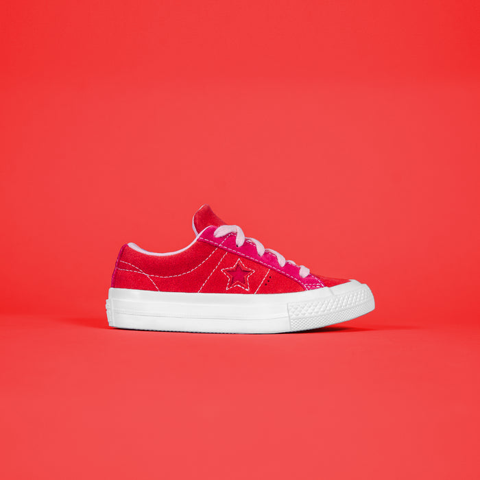Converse One Star Ox Enamel - Red / Pink Pop