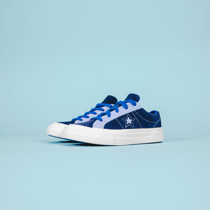 Converse Kids One Star OX - Navy / Purple