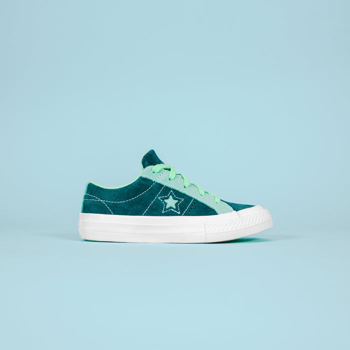 Converse Kids One Star OX - Navy / Teal / White