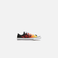 Converse Pre-School Chuck Taylor All Star Archive Flame Ox - Black / Enamel Red / Fresh Yellow Thumbnail 1