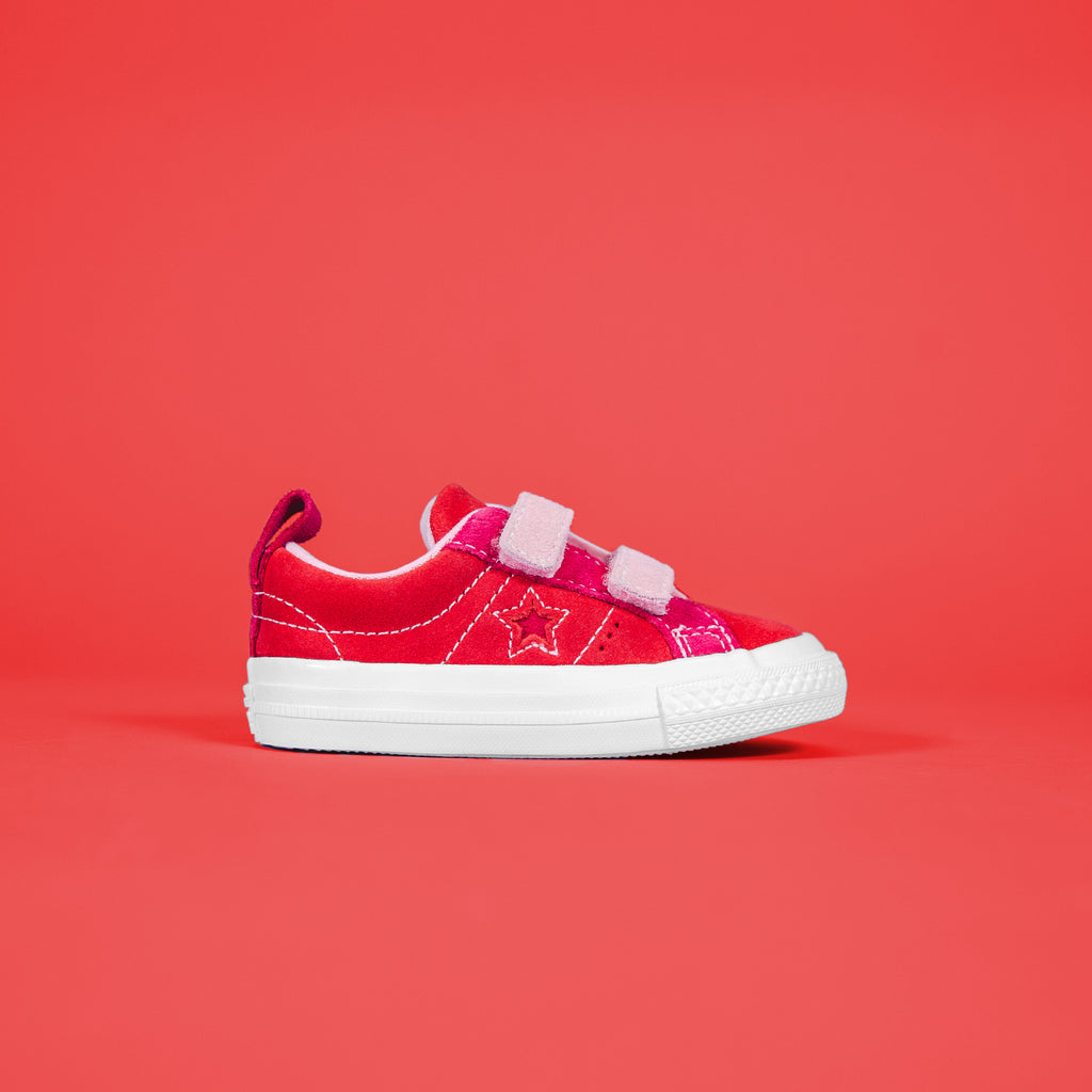 Converse One Star 2V Ox Enamel - Red   Pink Pop – Kith 53d926677d9