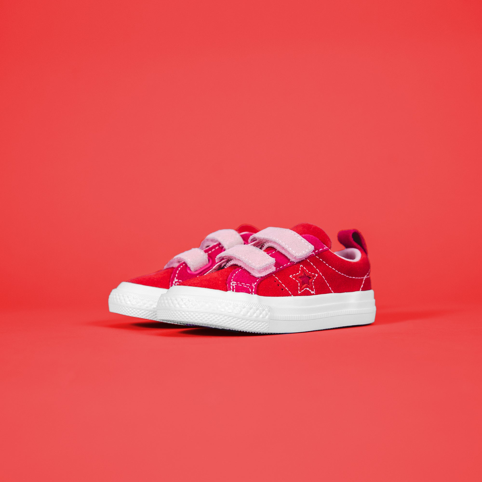 Converse One Star 2V Ox Enamel - Red / Pink Pop