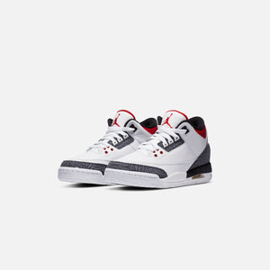 Nike Grade School Air Jordan 3 Retro SE - White / Fire Red / Black Image 2