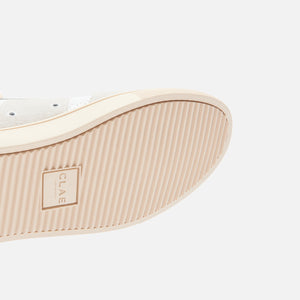 Clae Gregory Full Grain Leather - White / Navy Image 6