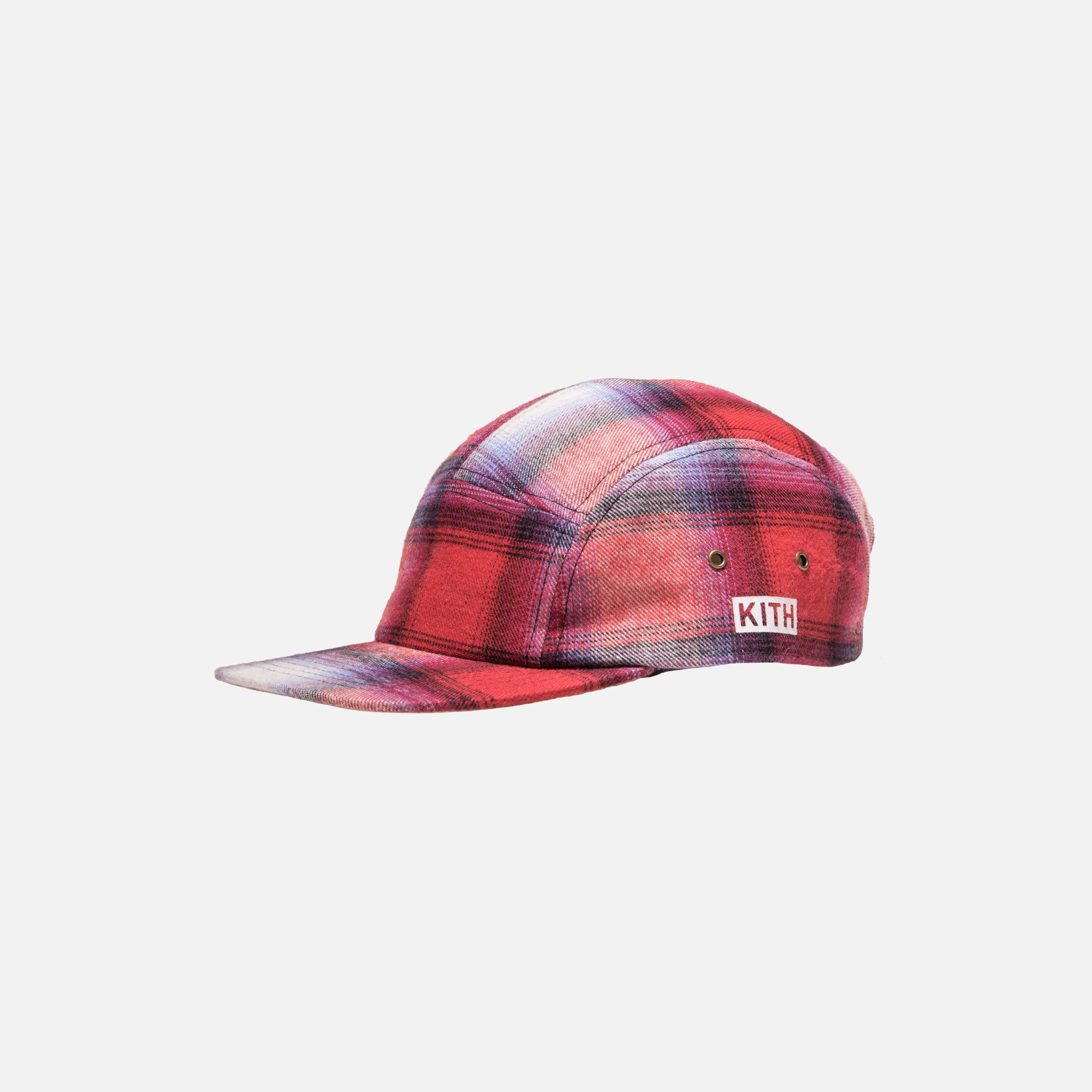 Kith Classics Plaid Camp Hat - Red