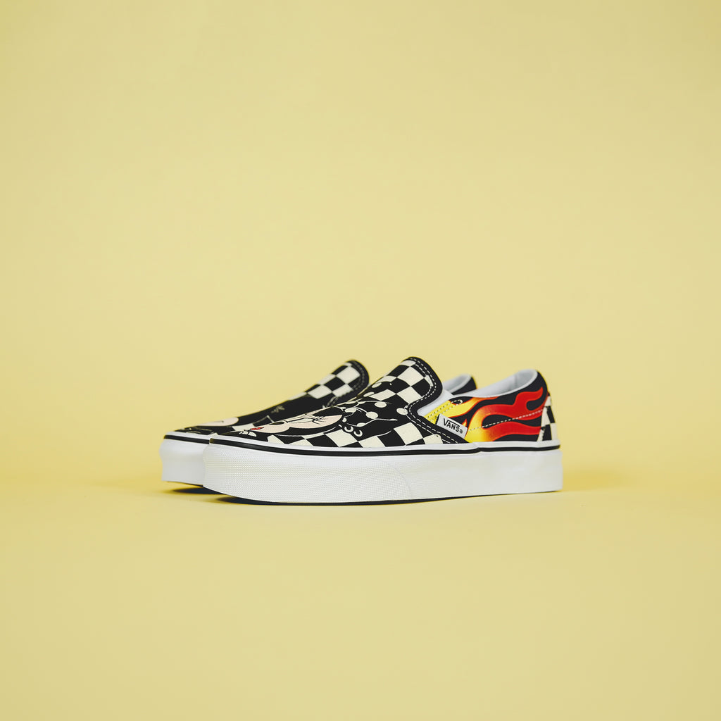 83b37d4af8 Vans x Mickey Mouse Classic Slip-On - Mickey   Minnie   Checkerboard – Kith