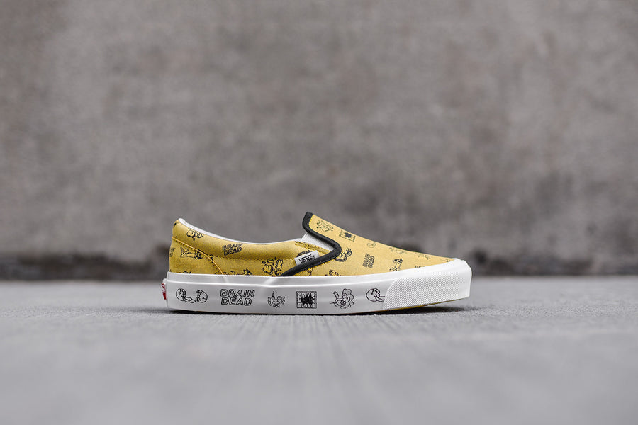 Vans Vault x Brain Dead Classic Slip-On LX - Yellow