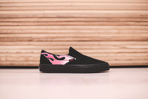 Vans Classic Slip-On Flame - Pink   Black – Kith 793c3e7c8