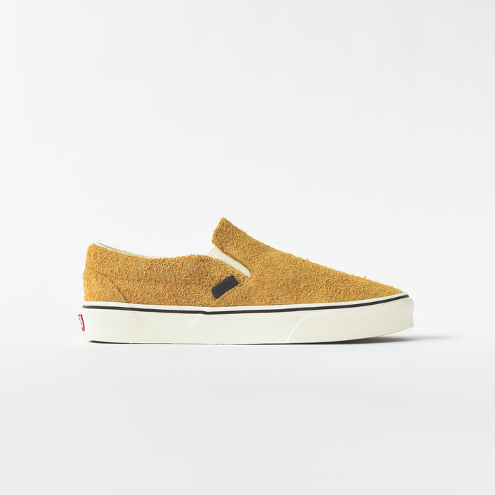 Vans Classic Slip On Hairy Suede - Sunflower / Snow White