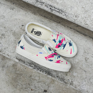 763229f737 Vans Slip-On Bricolage LX - Embroidered Palm   Classic White   Mutli