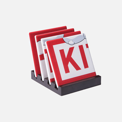 Kith x Coca-Cola Polar Bear Coasters - Red / White