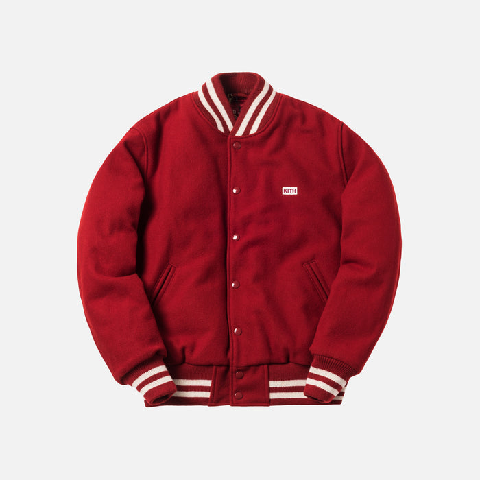 Kith x Coca-Cola x Golden Bear Wool Varsity Jacket - Red