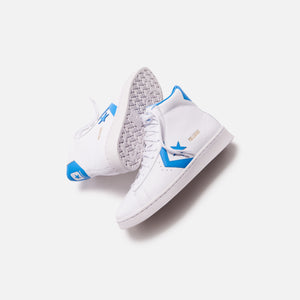 Converse Pro Leather High - White / Coast Blue