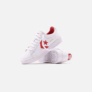 Converse Pro Leather OG Low - White / University Red