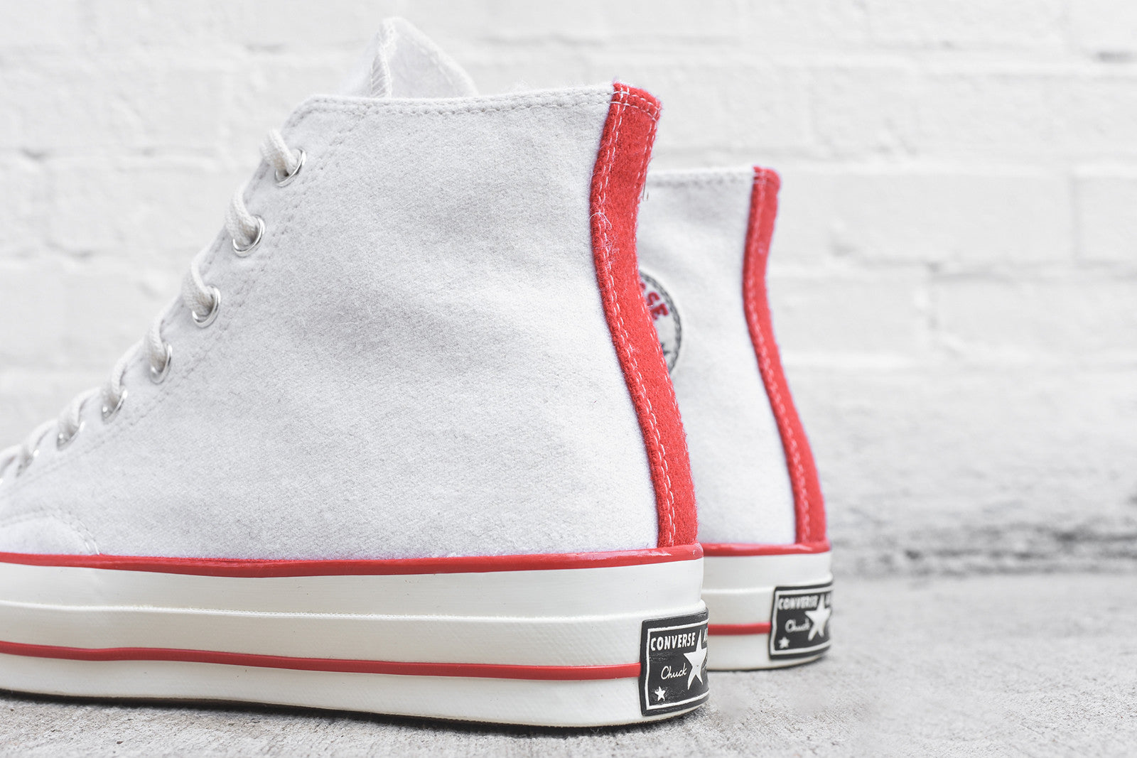 Converse Chuck Taylor All Star Hi 1970 Team - Egret / Flame Scarlet