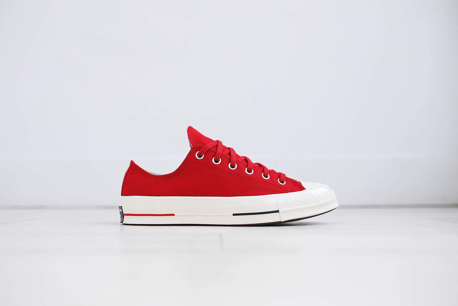 Converse CHUCK TAYLOR ALL STAR - OX - Trainers - white/navy/gym red 5PQp7
