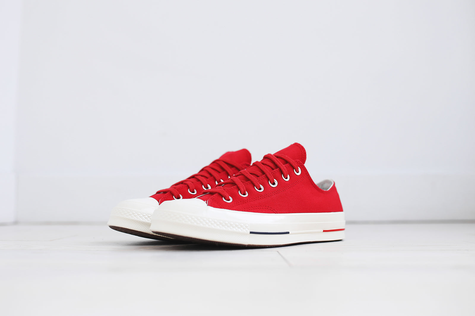Converse CHUCK TAYLOR ALL STAR - OX - Trainers - white/navy/gym red w8WIql5i