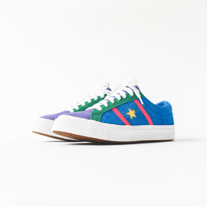 Converse Academy Ox - Totally Blue / Racer Pink / White