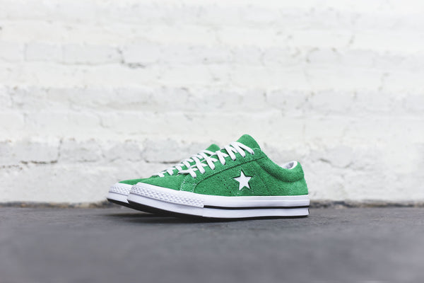 Converse One Star Ox - Green / White / Black