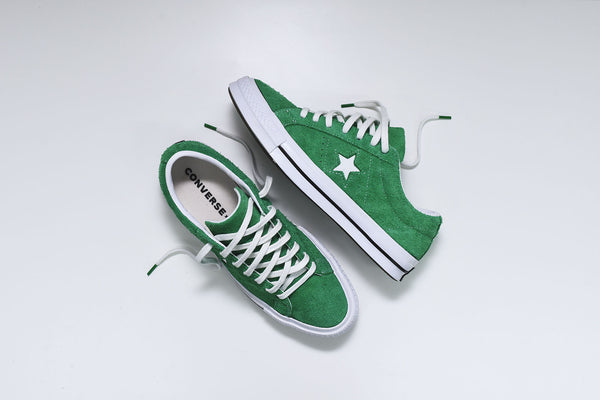 Converse One Star Ox - Green / White