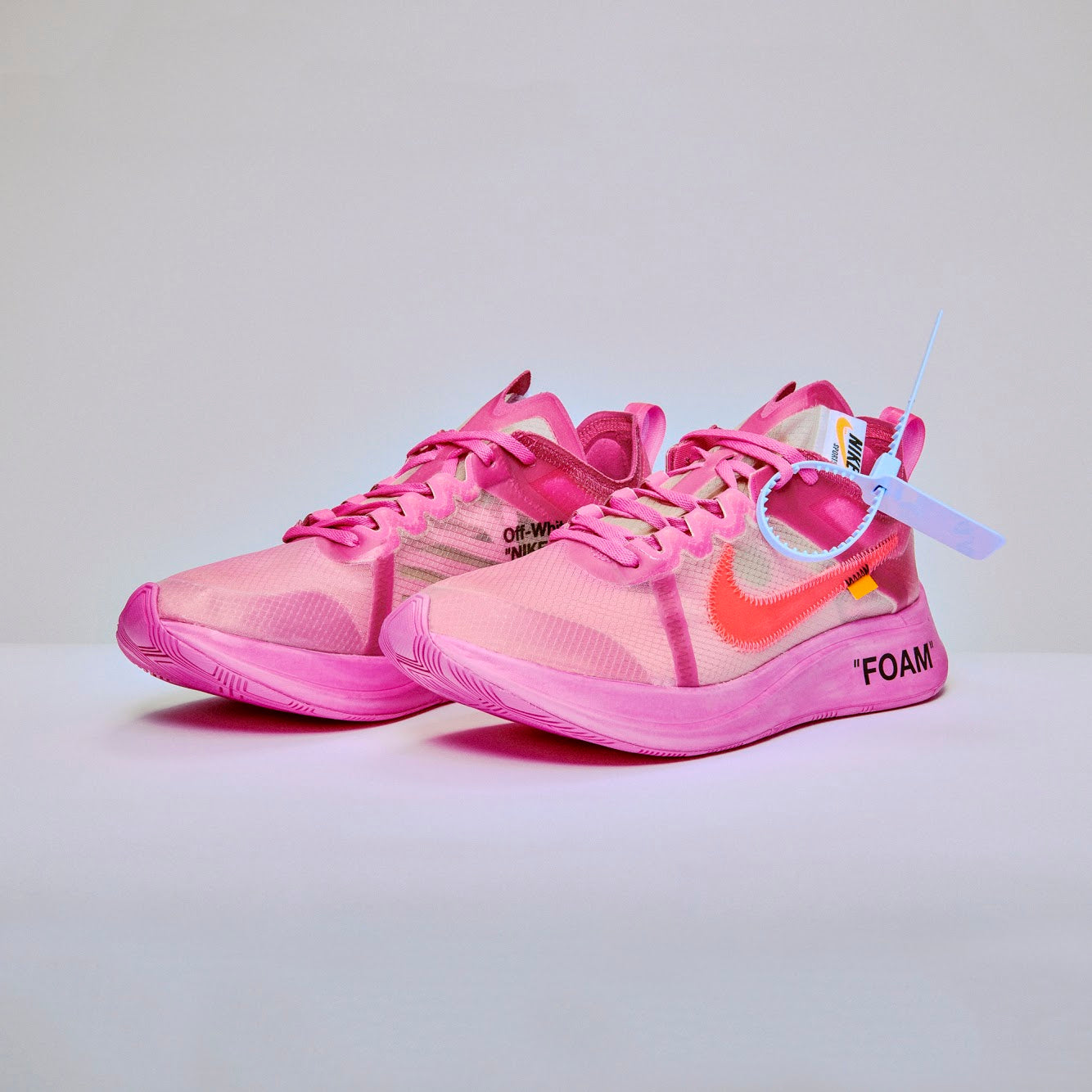 Nike x Off-White THE TEN:  Zoom Fly - Tulip Pink / Racer Pink / Laser