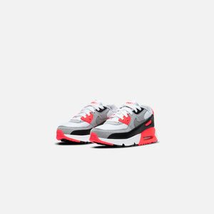 Nike Pre-School Air Max 90 QS - White / Black / Cool Grey / Radiant Red