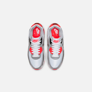 Nike Grade School Air Max 90 QS - White / Black / Cool Grey / Radiant Red Image 3