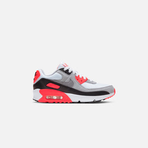 Nike Grade School Air Max 90 QS - White / Black / Cool Grey / Radiant Red