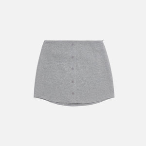 Danielle Guizio Fleece Button Skirt - Grey