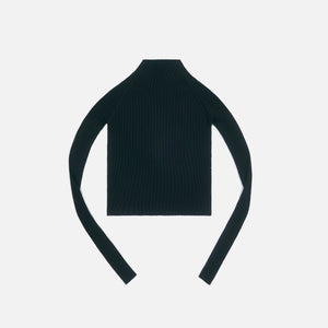 Dion Lee Shadow Rib Twist Back L/S Top - Black