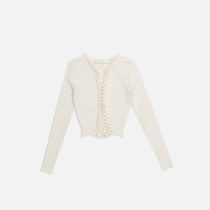 Dion Lee Central Braid L/S - Ivory
