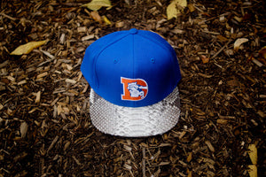 JUST DON Denver Broncos Logo - Royal / Natural