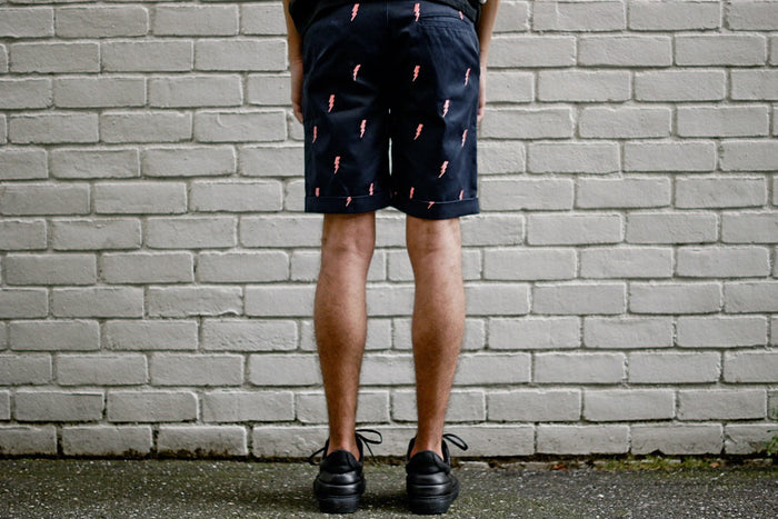 KITH White Label 2.0 Mercer Short - Navy / Salmon