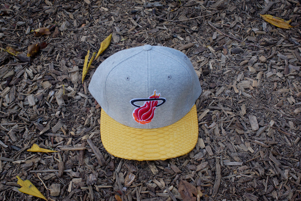 728bb9eb694 JUST DON Miami Heat Logo - Fleece   Yellow – Kith