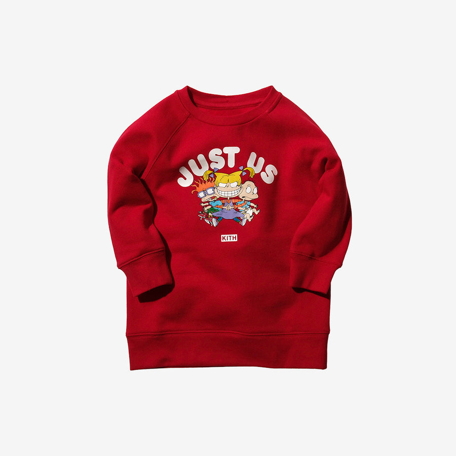 Kidset x Rugrats Just Us Crewneck - Red
