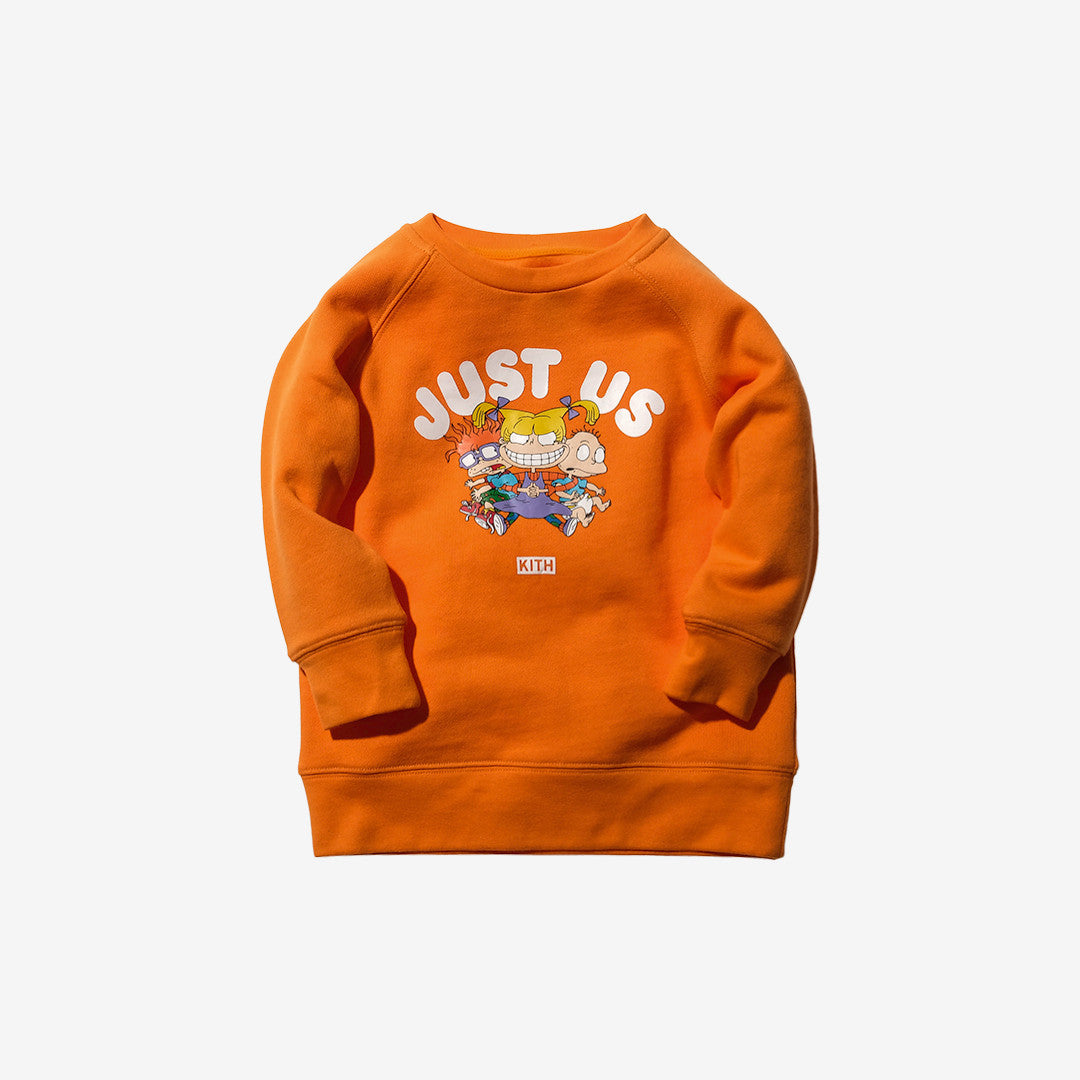 Kidset x Rugrats Just Us Crewneck - Orange