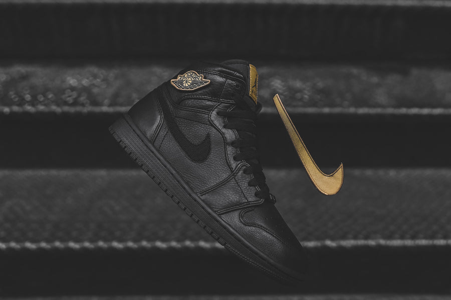 Nike Air Jordan 1 Retro High BHM - Black / Metallic Gold