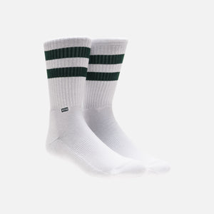 Kith Classics x Stance Fall '18 Crew Sock - White / Forest Green Image 2