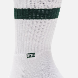 Kith Classics x Stance Fall '18 Crew Sock - White / Forest Green Image 3