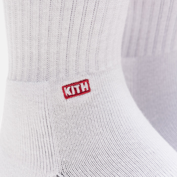 Kith Classics x Stance Fall '18 Crew Sock - White / Red