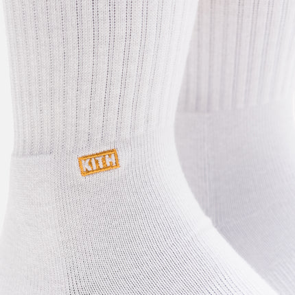 Kith x Stance Fall '18 Crew Sock - White / Gold