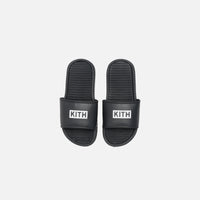 Kith Kids Slides - Black Thumbnail 1