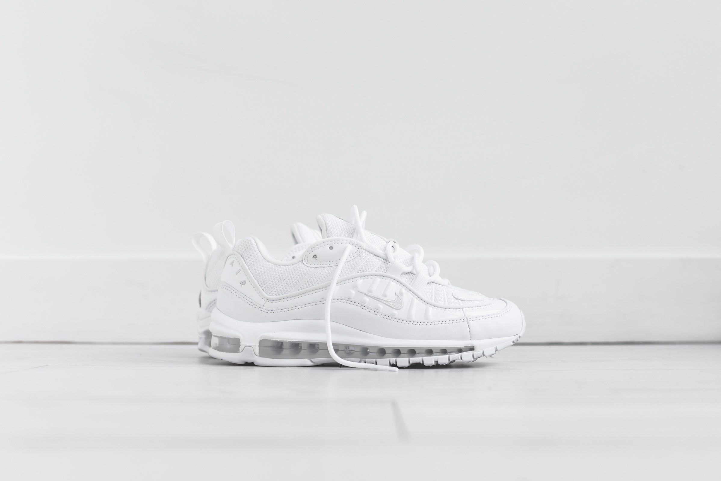 Nike Air Max 98 - Triple White u2013 Kith