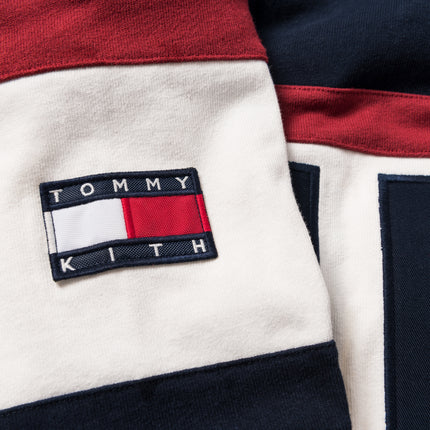 Kith x Tommy Hilfiger Color Block Logo Quarter-Zip - Navy / Red