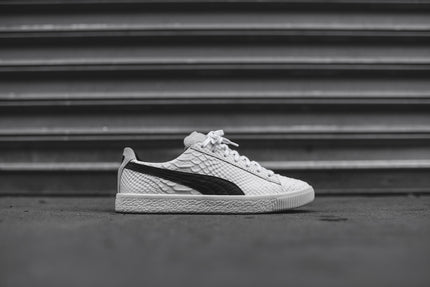 Puma Clyde Select Made In Italy Snakeskin - White / Black
