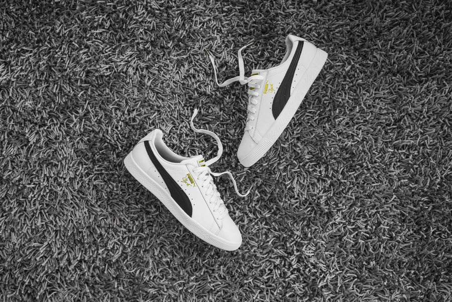 Puma Clyde Foil - White / Black / Team Gold