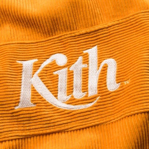 Kith Corduroy Double Pocket Hoodie - Golden Yellow