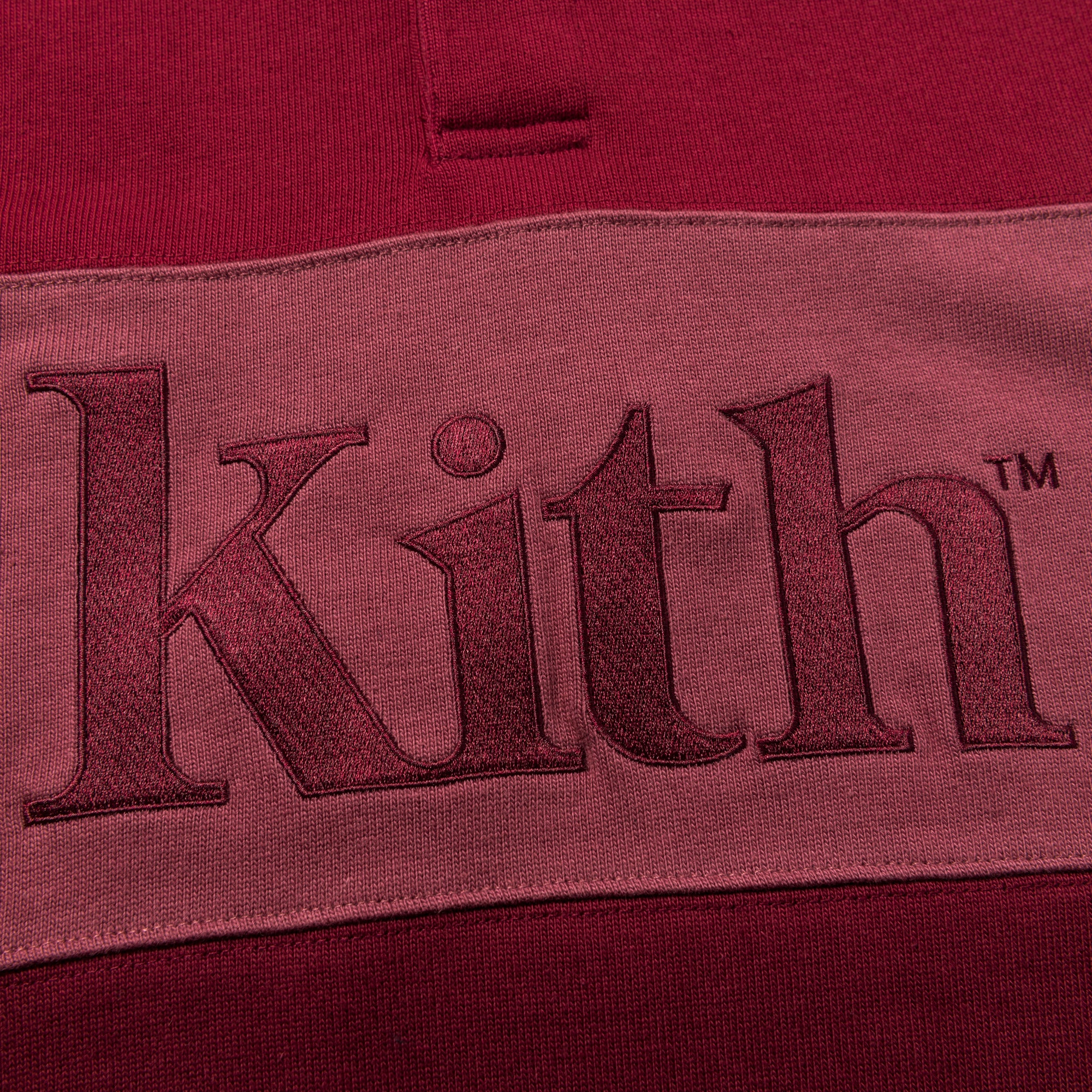 Kith Color Blocked Rugby - Multi / Burgundy