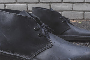 Clarks Desert Boot - Black Beeswax Leather Image 7
