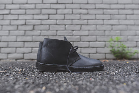 Clarks Desert Boot - Black Beeswax Leather
